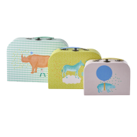 Set of 3 Children's  Storage Suitcases Animal Print By Rice DK